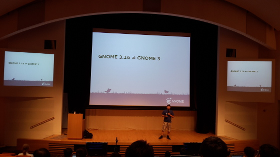 Presentation about GNOME 3.16 at HKOsCon 2015